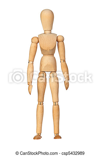 Jointed wooden mannequin - csp5432989
