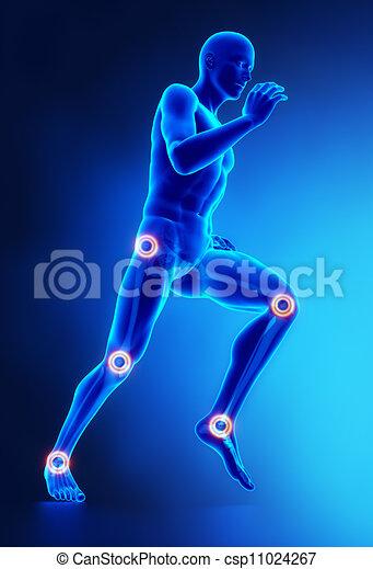 Joints leg injury concept - csp11024267