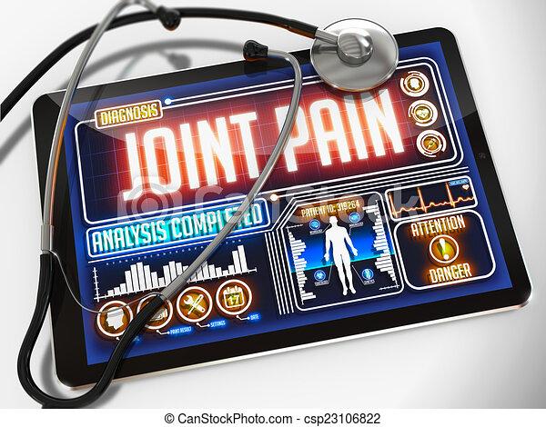jointure, monde médical, douleur, exposer, tablet. - csp23106822