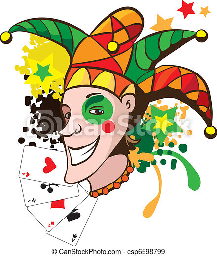 Joker cartes sourire illustration joker vecteur - Le joker dessin ...