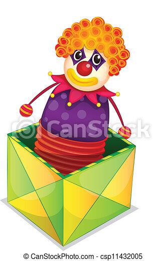 joker in einer kiste illustration von joker in einer box. Black Bedroom Furniture Sets. Home Design Ideas