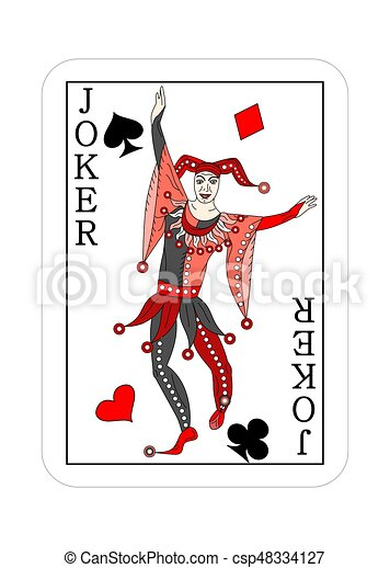 joker playing cards the illustration playing card for. Black Bedroom Furniture Sets. Home Design Ideas