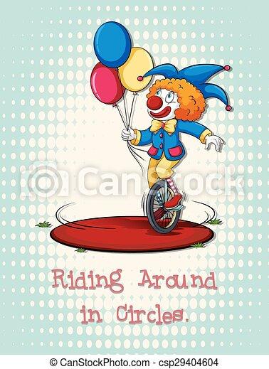 Joker riding on wheel - csp29404604