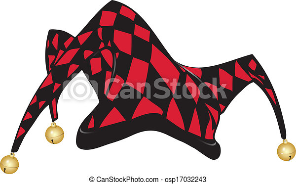 3b09c18623a Joker s hat. Red and black jester s hat