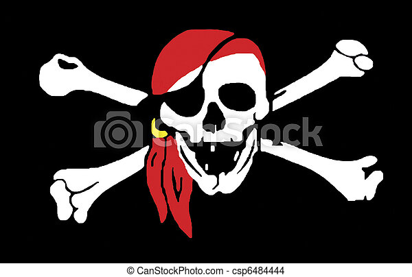Jolly Rodger pirate flag - csp6484444