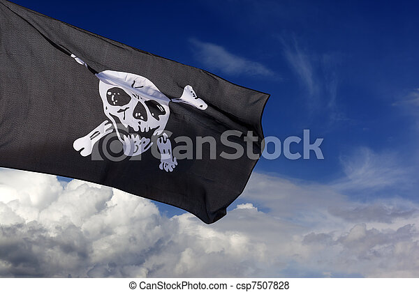Jolly Roger (pirate flag) - csp7507828