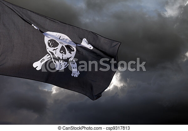 Jolly Roger (pirate flag) - csp9317813