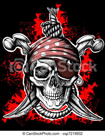 Jolly Roger, pirate symbol - csp7219932