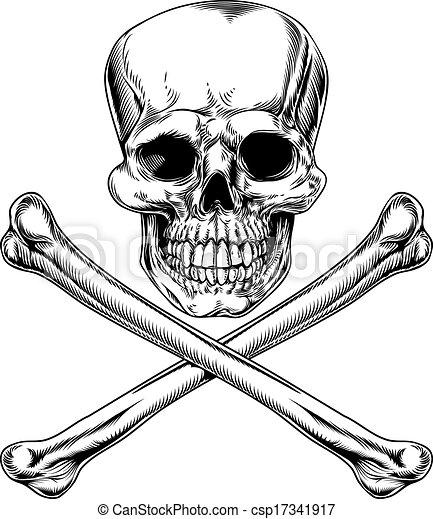 Jolly Roger Skull and Crossbones - csp17341917