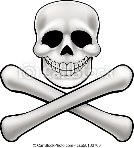 jolly roger skull and crossbones a cartoon jolly roger vector rh canstockphoto com  cartoon jolly roger clipart