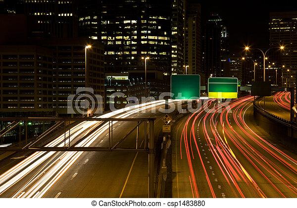 jonc, trafic, heure - csp1483880
