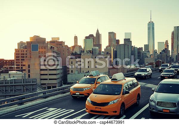 jonc, trafic, heure - csp44673991