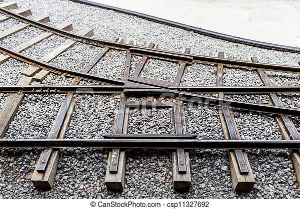 jonction chemin fer - csp11327692