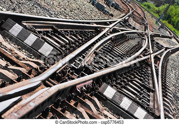 jonction chemin fer - csp5776453