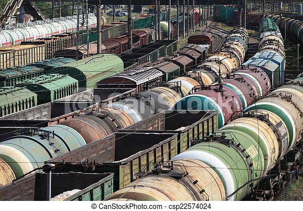 jonction chemin fer, trains - csp22574024