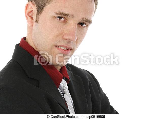 jonge, aantrekkelijk, zakenmens  - csp0515906