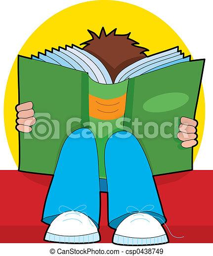jongen lees, jonge - csp0438749