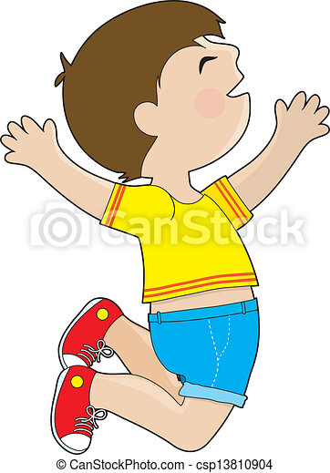 jongen, springt - csp13810904