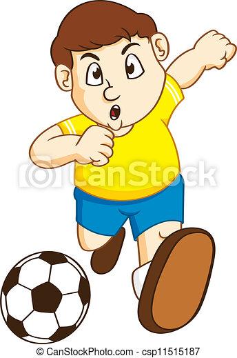 jongen, voetbal - csp11515187