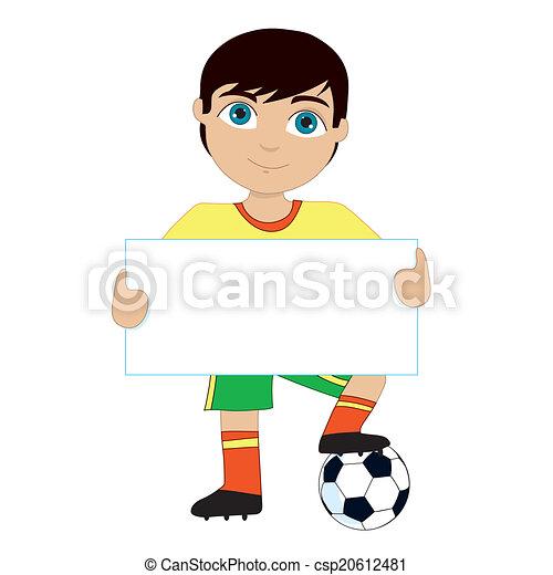 jongen, voetbal - csp20612481