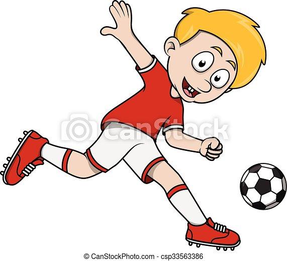 jongen, voetbal - csp33563386
