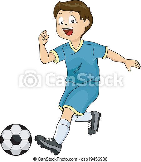 jongen, voetbal - csp19456936