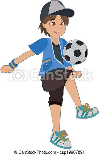 jongen, voetbal - csp19967891