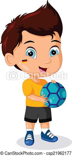 jongen, weinig; niet zo(veel), voetbal, geitje - csp21962177