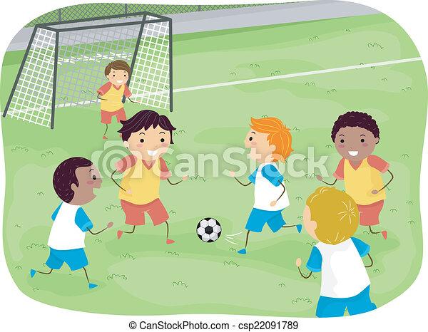 jongens, voetbal - csp22091789