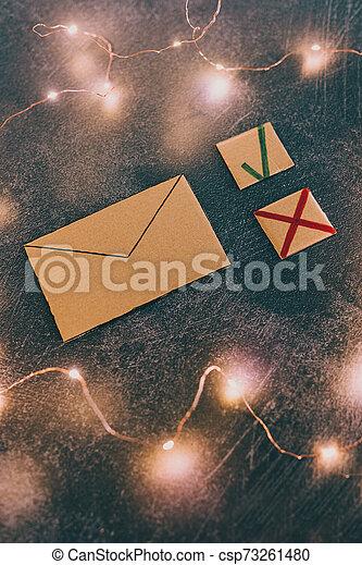 jonque, newsletter, croix, ou, email, courrier, message, tique, options - csp73261480