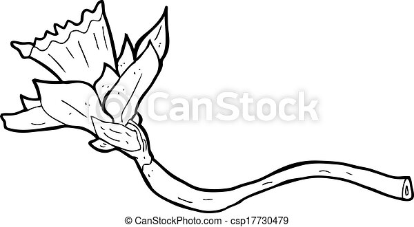 Jonquille dessin anim fleur - Dessin jonquille fleur ...