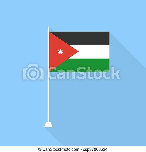 Jordan Flag. Vector illustration . - csp37860634