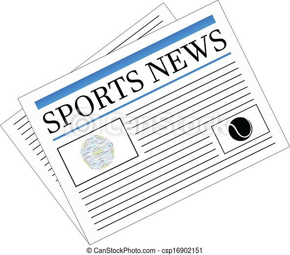 jornal, notícia, esportes - csp16902151