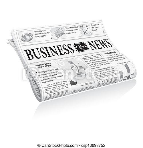 jornal, notícia, negócio - csp10893752
