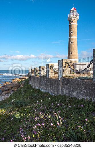 jose, 灯台, este, punta, ウルグアイ, ignacio, del - csp35346228