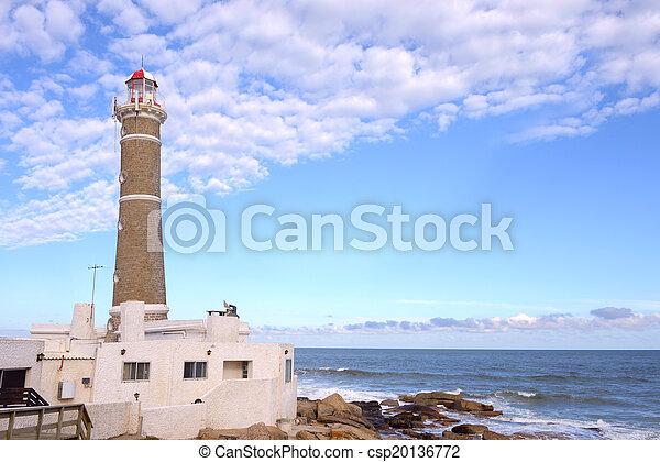 jose, 灯台, este, punta, ウルグアイ, ignacio, del - csp20136772