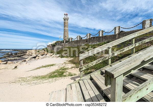 jose, 灯台, este, punta, ウルグアイ, ignacio, del - csp35348272