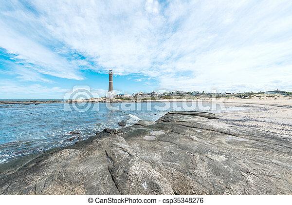 jose, 灯台, este, punta, ウルグアイ, ignacio, del - csp35348276