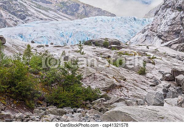 Jostedalsbreen glacier in Norway - csp41321578