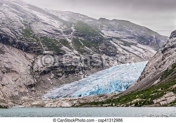Jostedalsbreen glacier in Norway - csp41312986