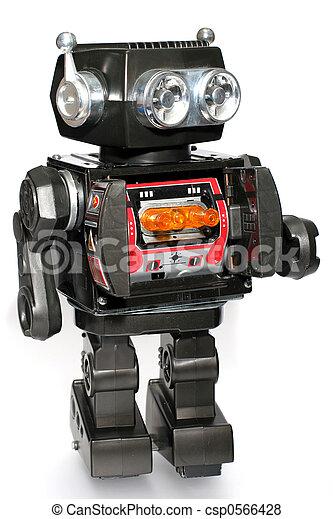 jouet, étain, robot, vieux - csp0566428