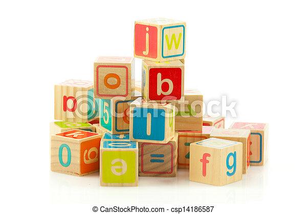 Jouet bois alphabet blocks cubes letters - Jouet alphabet ...