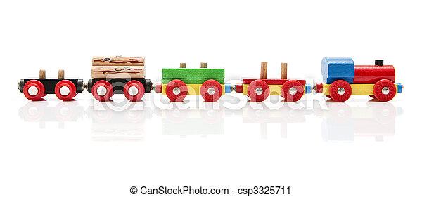jouet bois, train - csp3325711