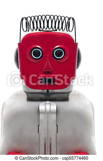 jouet fer-blanc, robot - csp55774460