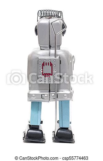 jouet fer-blanc, robot - csp55774463