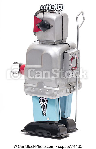 jouet fer-blanc, robot - csp55774465
