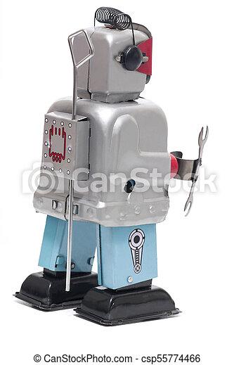 jouet fer-blanc, robot - csp55774466