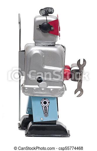 jouet fer-blanc, robot - csp55774468
