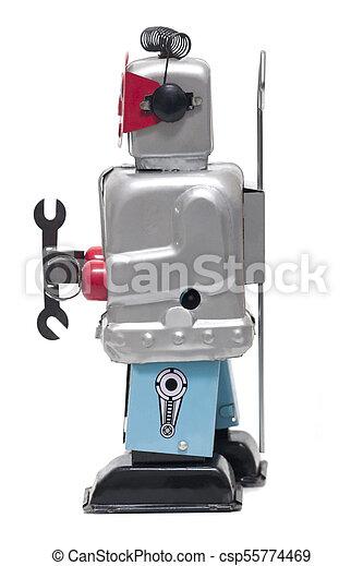 jouet fer-blanc, robot - csp55774469