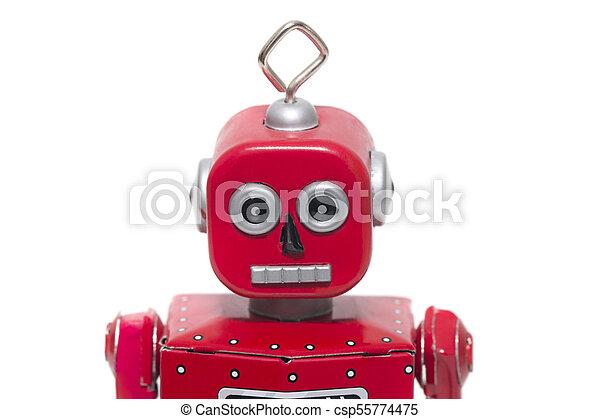jouet fer-blanc, robot - csp55774475